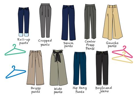 Apparel Items 【Women's Pants】