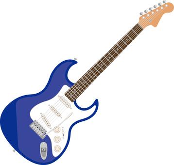 Electric guitar blue