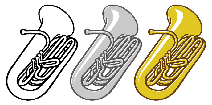 Instrument (Tuba) 3 colors