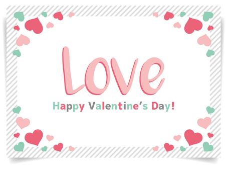 バレンタイン向けフレーム(文字あり)