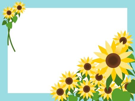 Card material * summer sunflower