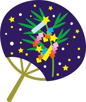 Tanabata decorate fan