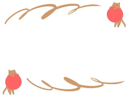 【Frame】 Brown cat