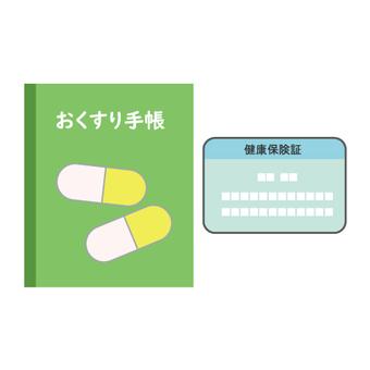 Sardine notebook and health insurance card image