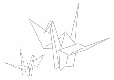 Folding crane drawing