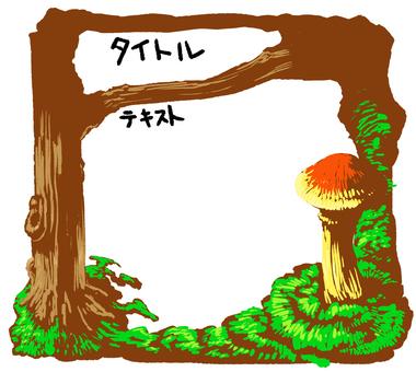 蘑菇框架白色背景