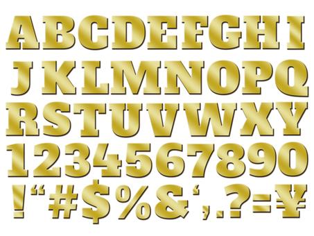 Font gold 3D