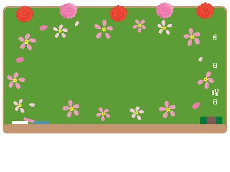 Blackboard and cherry tree 1