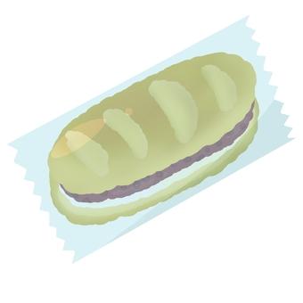 Anko cream bread in a bag