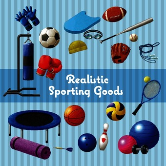 Sports equipment illustration pack