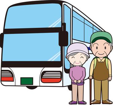Elderly couple's travel