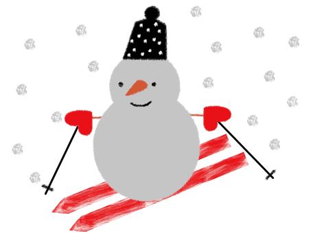 Ski resort _ Snowman