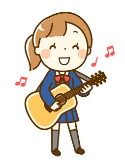 기타를 연주하는 소녀
