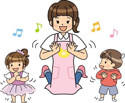 Kindergarten hand-play