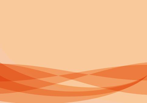 Shaped wave pattern background Orange