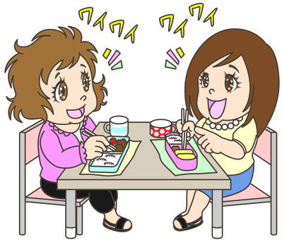 In-house lunch among girls