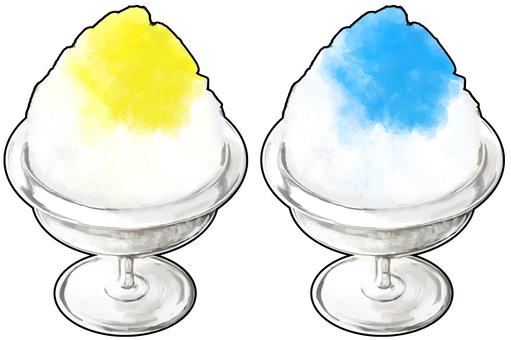 Shaved Ice Lemon & Blue Hawaii Boundaries