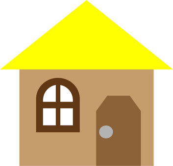 Yellow roof house