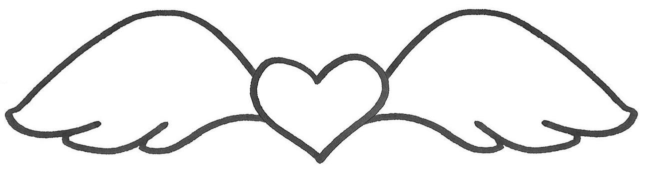 Heart wings wings