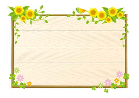 Sunflower and small bird board