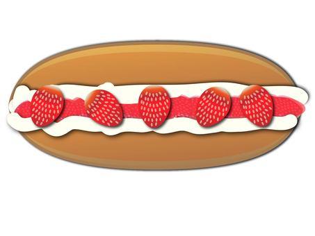 Cream strawberry bread