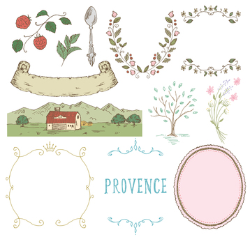 Provence image hand-painted color