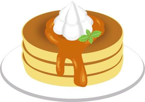 Whipped cream pancake