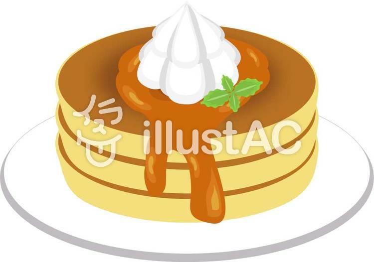 ホイップクリームパンケーキイラスト No 178221無料イラストなら