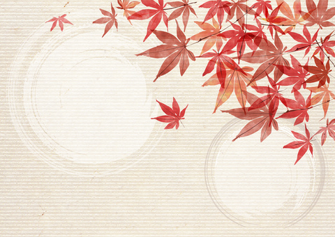Japanese style _ autumn leaves _ background