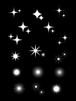 Glitter glow setting white blur
