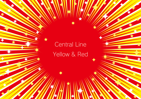 Concentrated yellow-red line