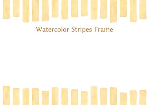Watercolor wind stripe frame 5
