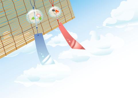 風鈴と簾01