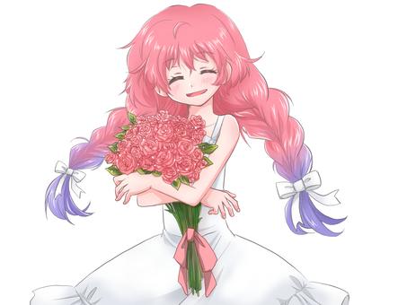 꽃다발을 가진 여자 4