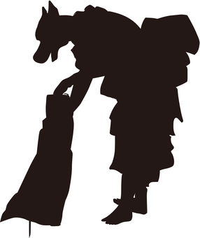 Ukiyo-e silhouette 232