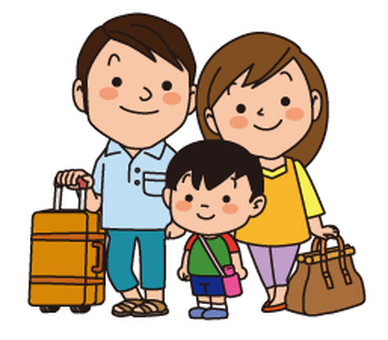 Three families to travel
