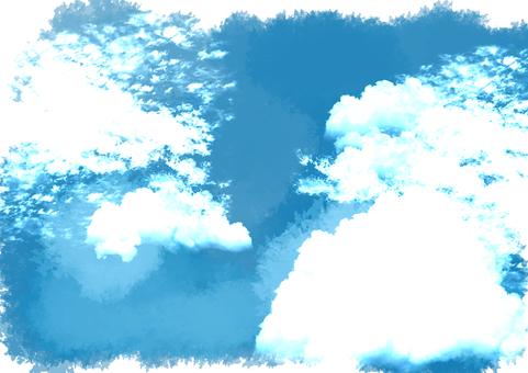Handwriting style sky