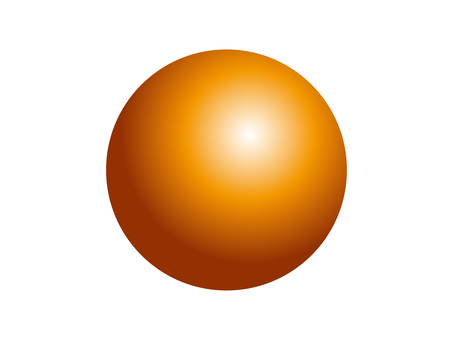 Solid sphere (3) orange