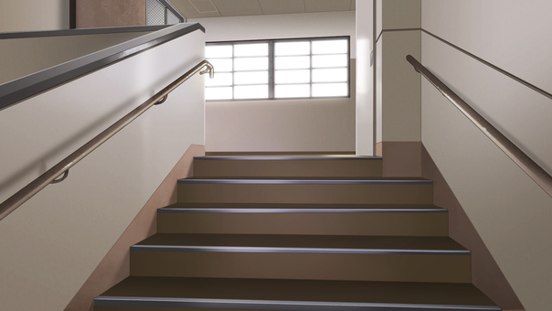 Stairs of school (day)
