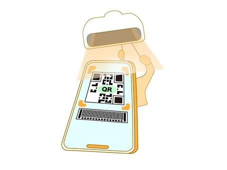 QR code electronic cashless payment