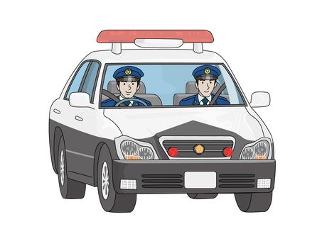 Police officer on a police car 1