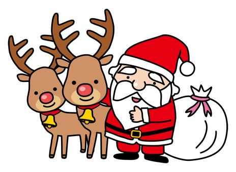 Santa and her friend Reindeer 2