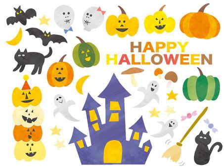 Halloween October Pumpkin Set