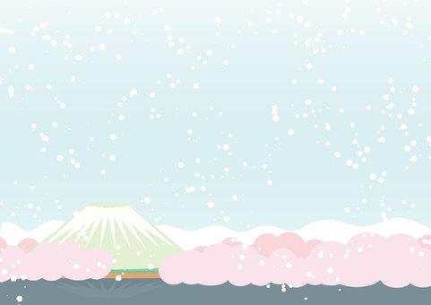 Landscape - Spring - Snow - Fuji - 02