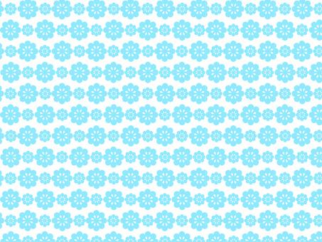 꽃 패턴 하늘색 2