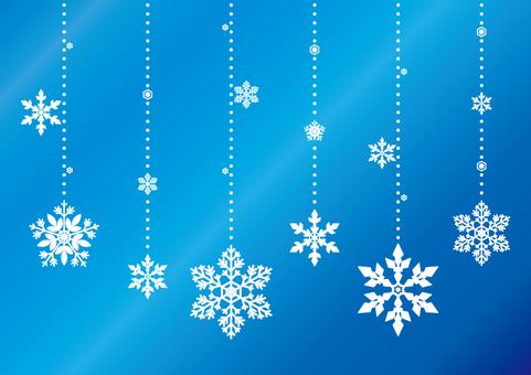 Snow Crystal Decoration Set