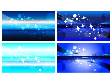 長方形光ウェーブ水玉ブルー背景