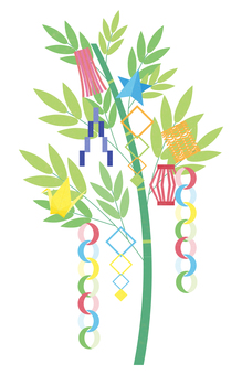 七夕飾りの可愛いイラスト