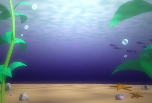 Bottom of the sea floor light Sunlight fantastic