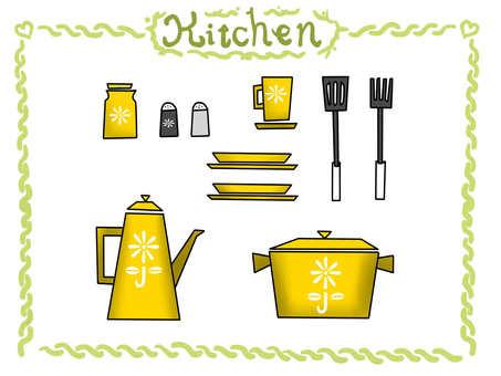 Kitchen set yellow